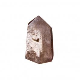 Prisma in Quarzo Fumè con Rutilo color Rame e Giallo
