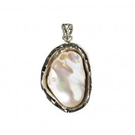 Ciondolo con Perla Barocca e Argento 925