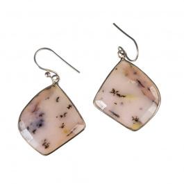 Orecchini Pendenti di Opale Andino e Argento 925