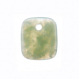 Ciondolo Unisex in New Jade levigata