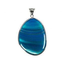 Ciondolo in Agata Blu