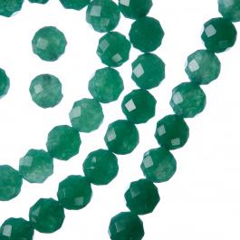 Avventurina Verde - Filo di sfere sfaccettate da 8mm