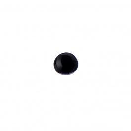 Cabochon in Agata Nera - Tondo 1.0x0.5 cm