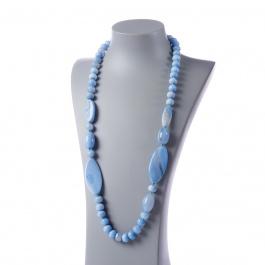 Collana Lunga di Agata Azzurra e Ag 925