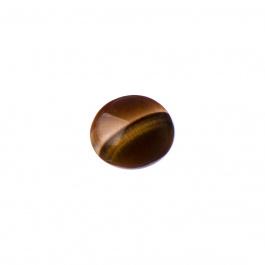Cabochon in Occhio Di Tigre - Tondo 1.4x0.5 cm
