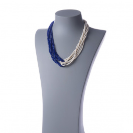 Collana Torchon in Onice, Agata ed Ag 925