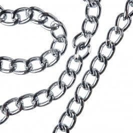Catena in alluminio trama Oval Curb Chain - 1 cm.