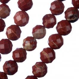 Diaspro Rosso - Sfera sfaccettata da 10mm