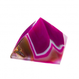 Piramide in Agata Fucsia Striata