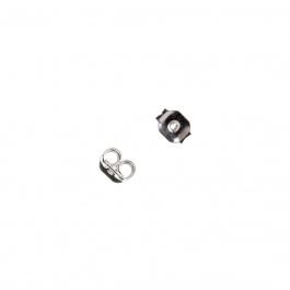 Elemento per orecchini in Argento 925 - 0.3 x 0.5 cm - 10 pz.