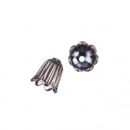 Coppetta a campana decorata color Argento diametro 1 cm - 5 pz.