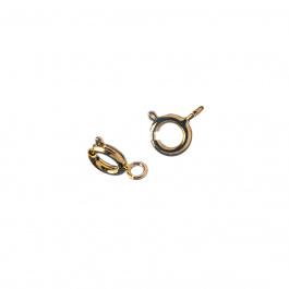 Chiusura ad anello in Ottone da 6 mm, color oro - 6 pz.