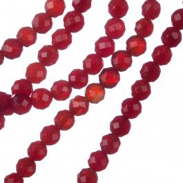 Giada Rossa - Sfera sfaccettata da 6mm