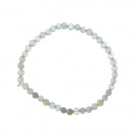 Bracciale New Jade, elastico, sfere 4mm
