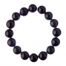 Bracciale Granato, elastico, sfere 12mm