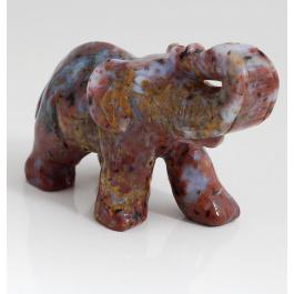 Elefante in Diaspro Orbicolare