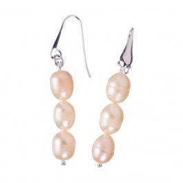 Orecchini di Perle rosa d'Acqua dolce e Ag 925