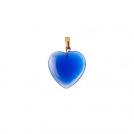 Ciondolo Unisex in Agata Blu - Cuore