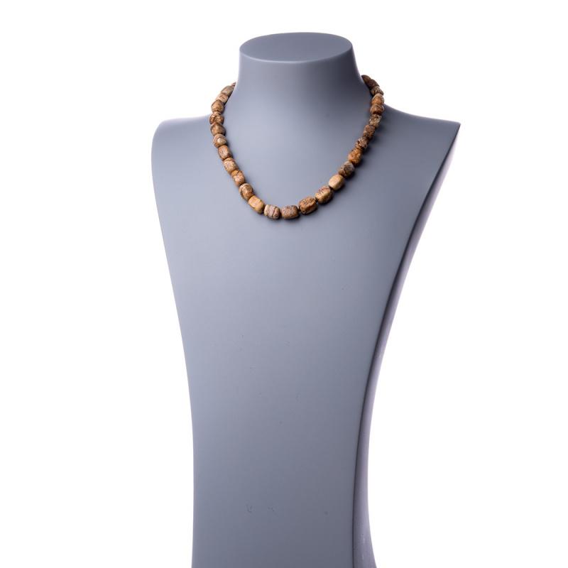 Collana corta in Pietra Paesina e Argento 925 - 48 cm