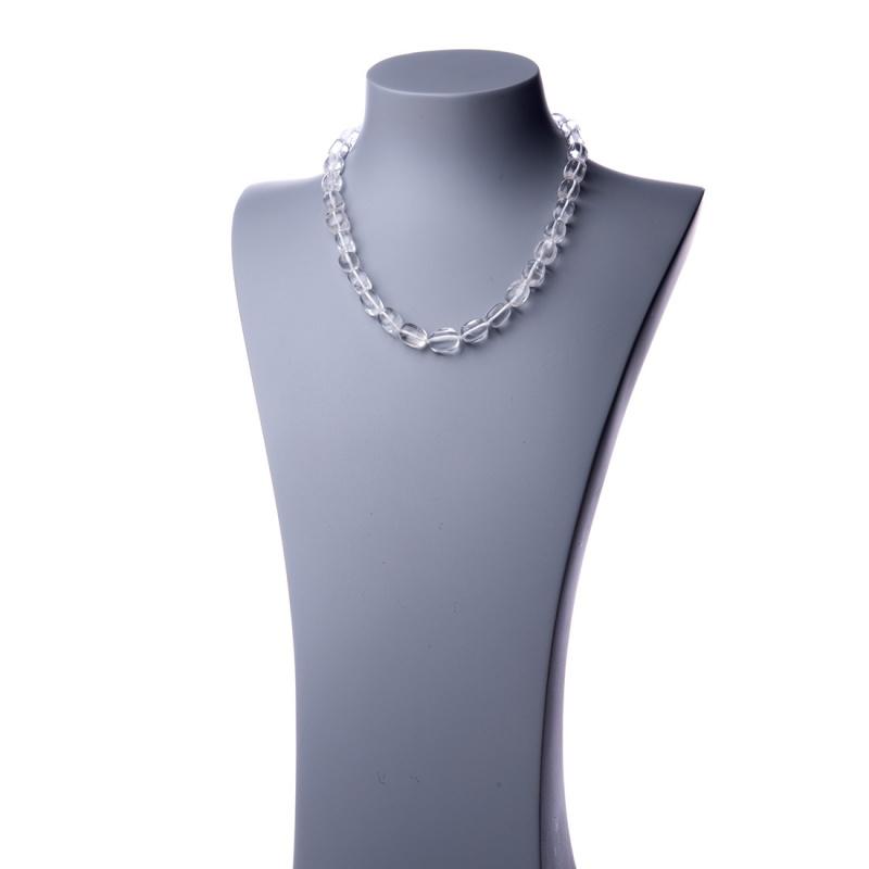 Collana corta in Cristallo di Rocca e Argento 925 - 48 cm