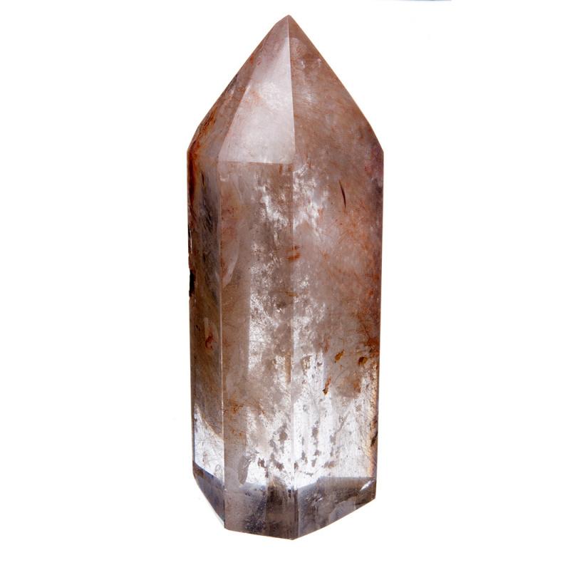 Prisma in Quarzo Ialino con Rutilo color Rame