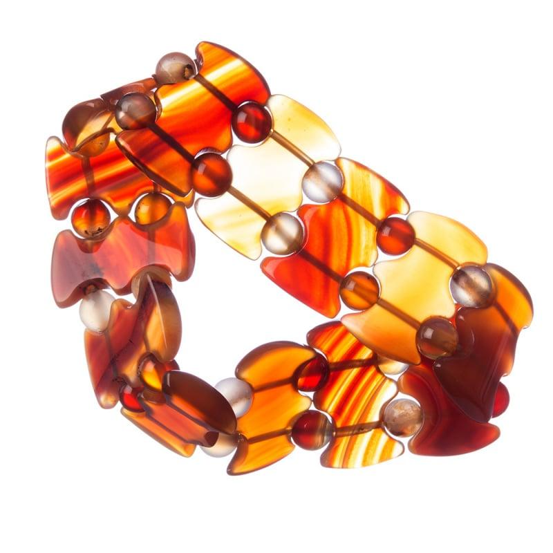 Bracciale elastico in Corniola