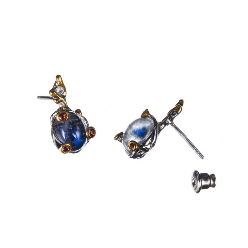 Orecchini di Spectrolite e Argento 925