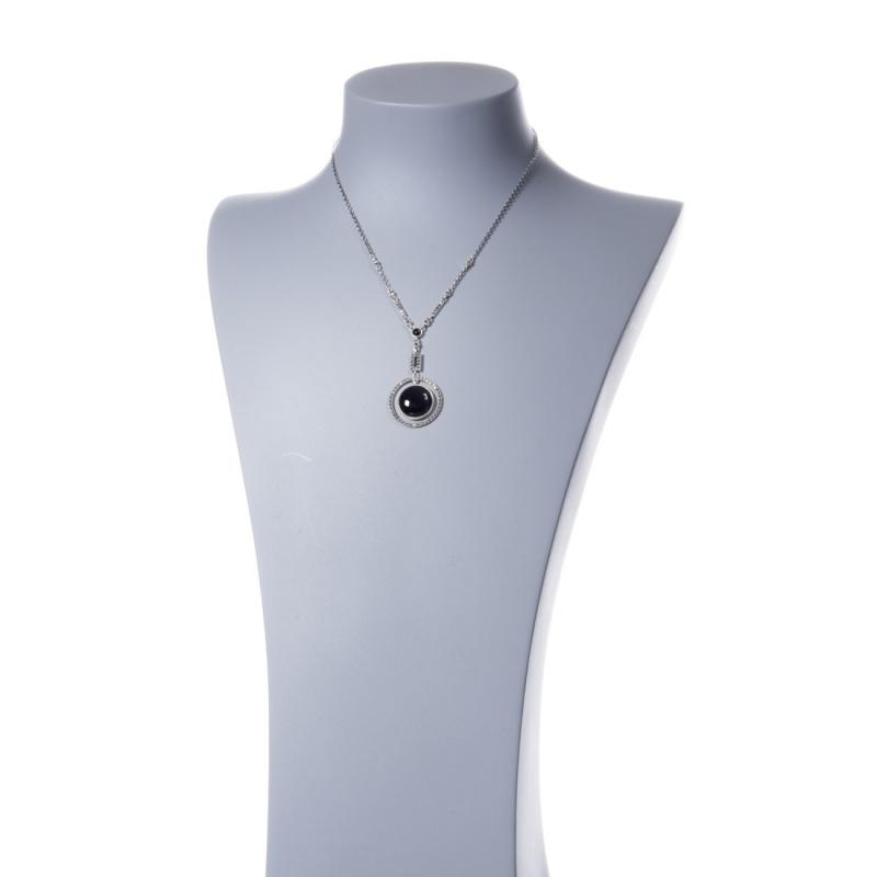 Collana in Argento 925 con pendente in Onice e Marcasite
