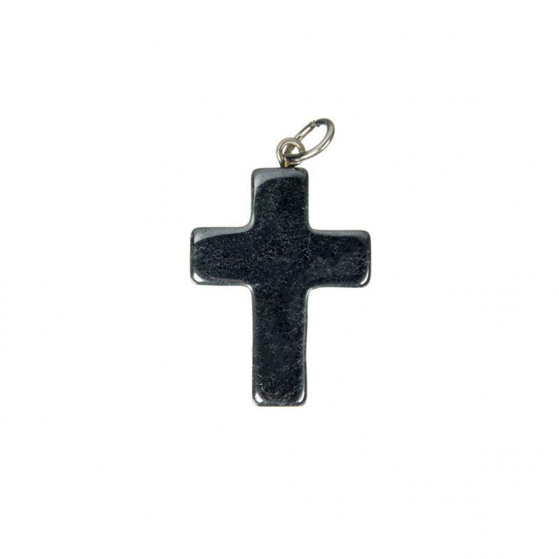 Ciondolo Croce in Ematite