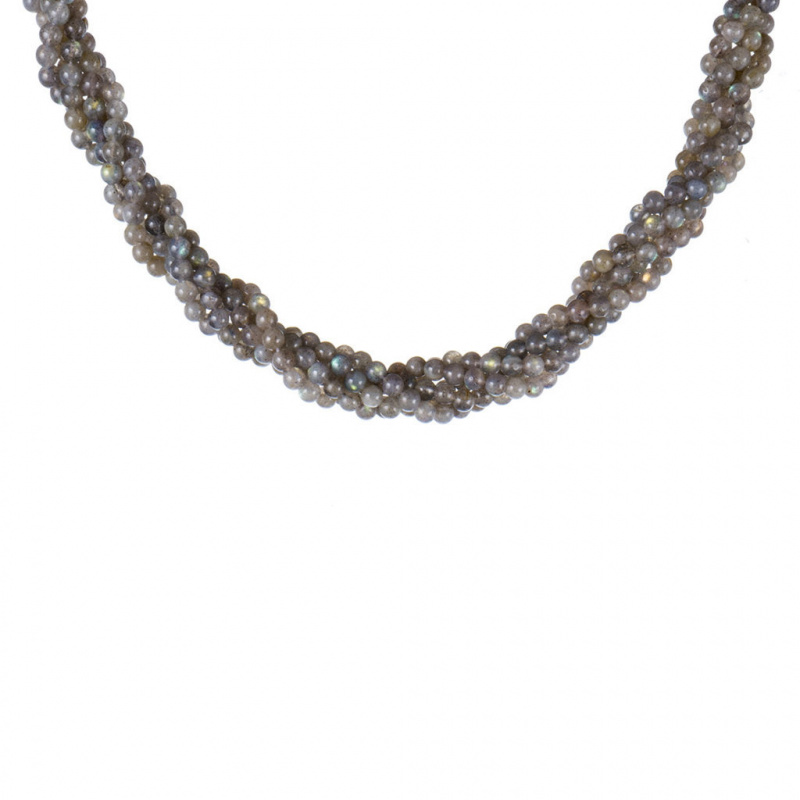 Collana Torchon in Labradorite ed Argento 925