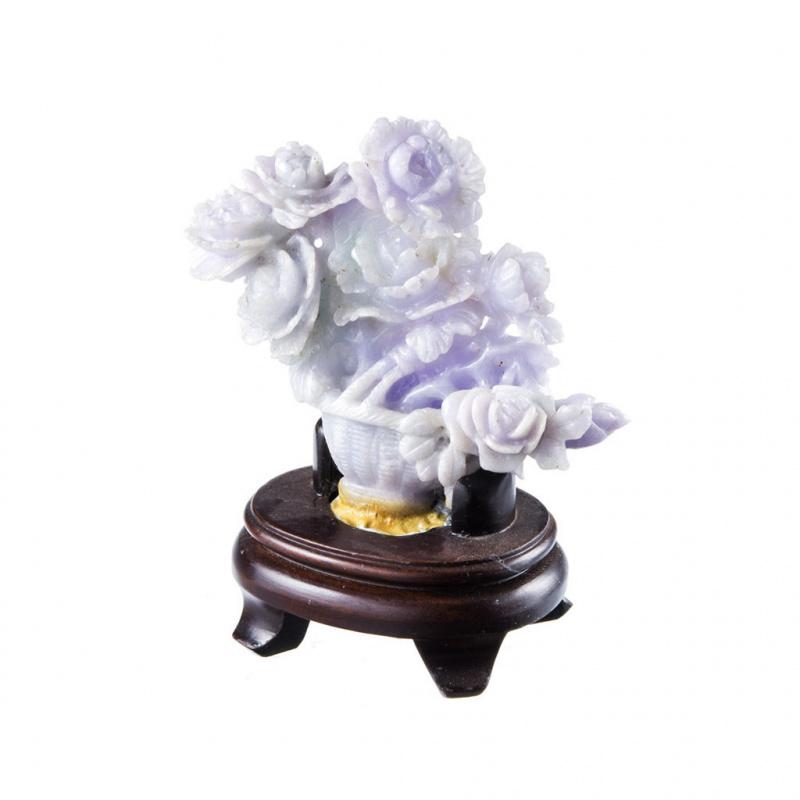 Vaso di fiori in Giada Lavanda