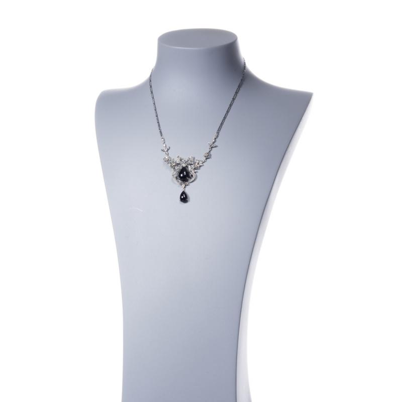 Collana di Onice Nera, Marcasite e Argento 925