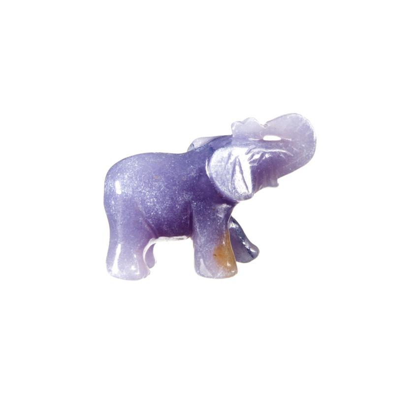 Elefante in Calcite Blu