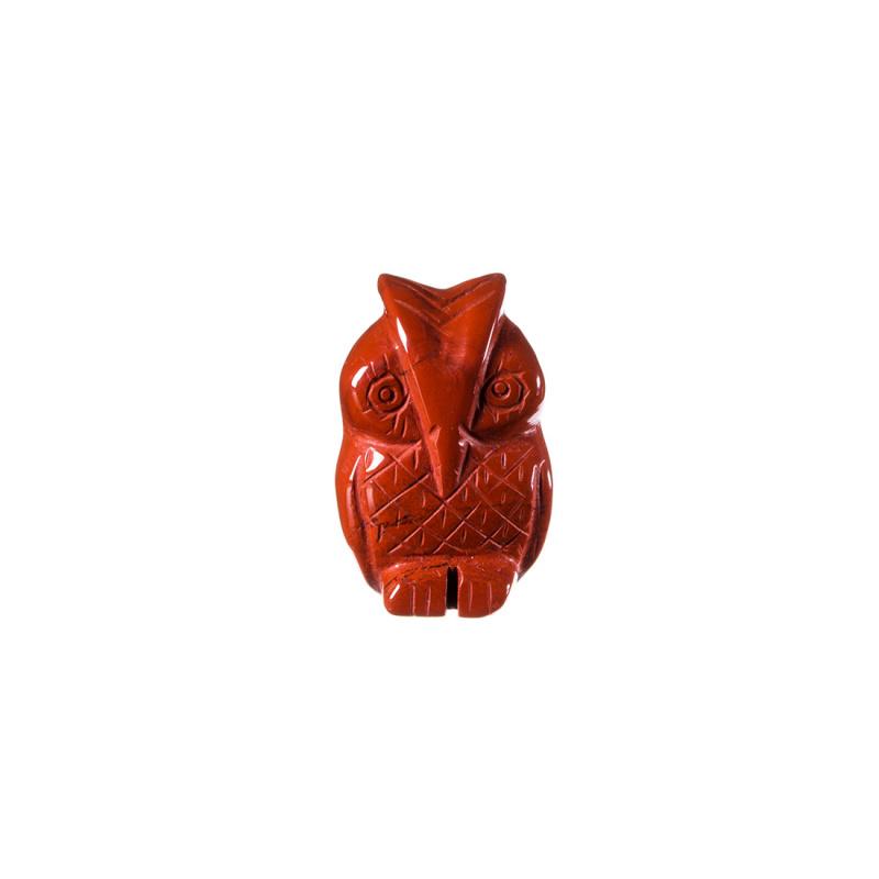Gufo in Diaspro Rosso