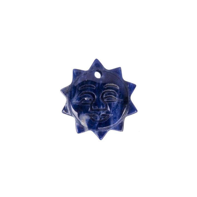 Ciondolo Sole in Sodalite - 2.5 cm