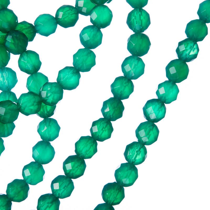 Agata Verde - Sfera sfaccettata da 6mm