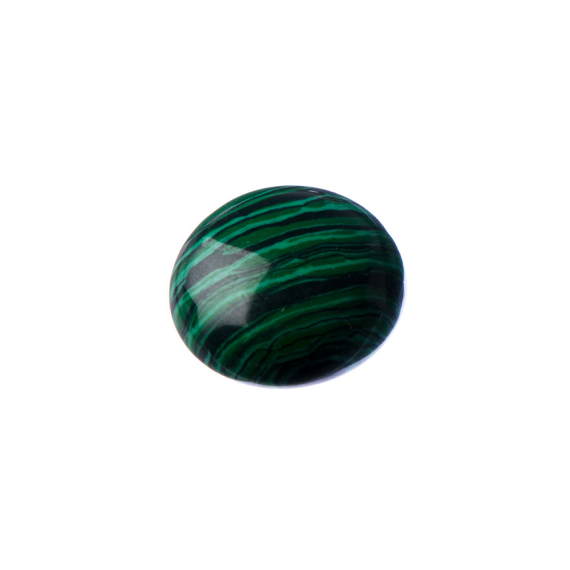 Cabochon in Malachite Sintetica - Tondo 1.8x0.6 cm