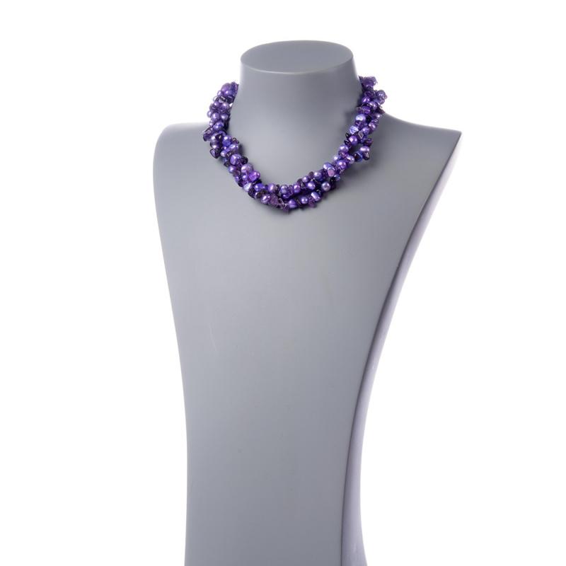 Collana di Ametista e Perle d'Acqua dolce