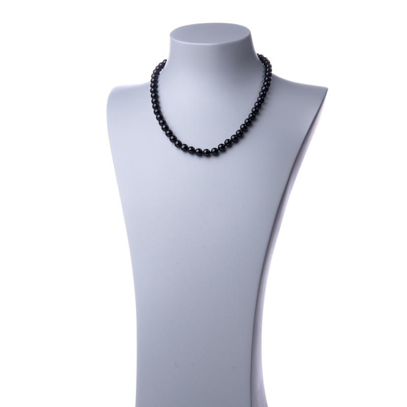 Collana Corta a Sfere di Ossidiana e Oro 18k