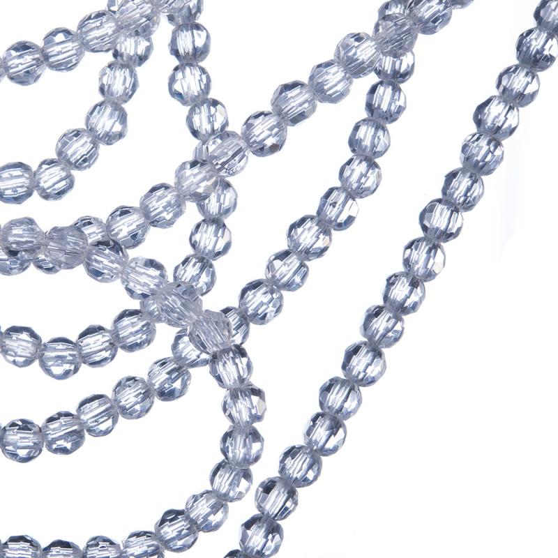 Cristallo di Rocca - Filo di sfere sfaccettate da 4mm