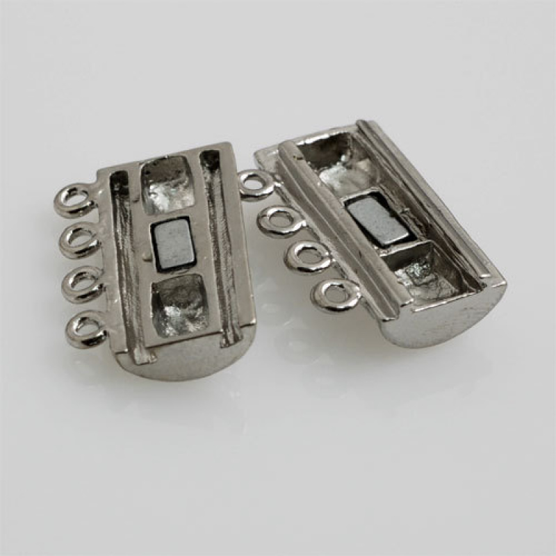 Chiusura magnetica a quattro fili per collana 2x1.6 cm - 1 pz.