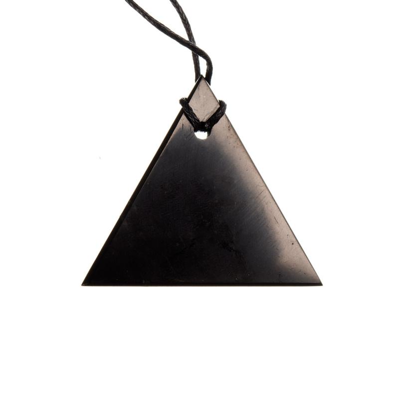 """Ciondolo triangolare """"Uomo"""" in Shungite"""