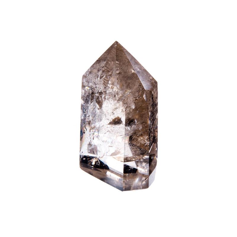 Prisma in Quarzo Ialino con Rutilo color Giallo