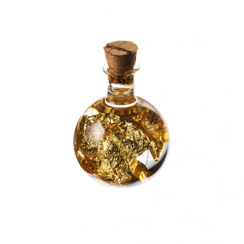 Bottiglia con laminato d'Oro 22K