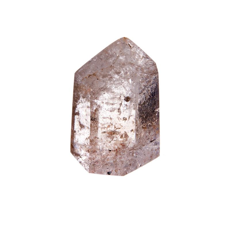 Prisma in Quarzo Ialino con Rutilo color Giallo e Rame
