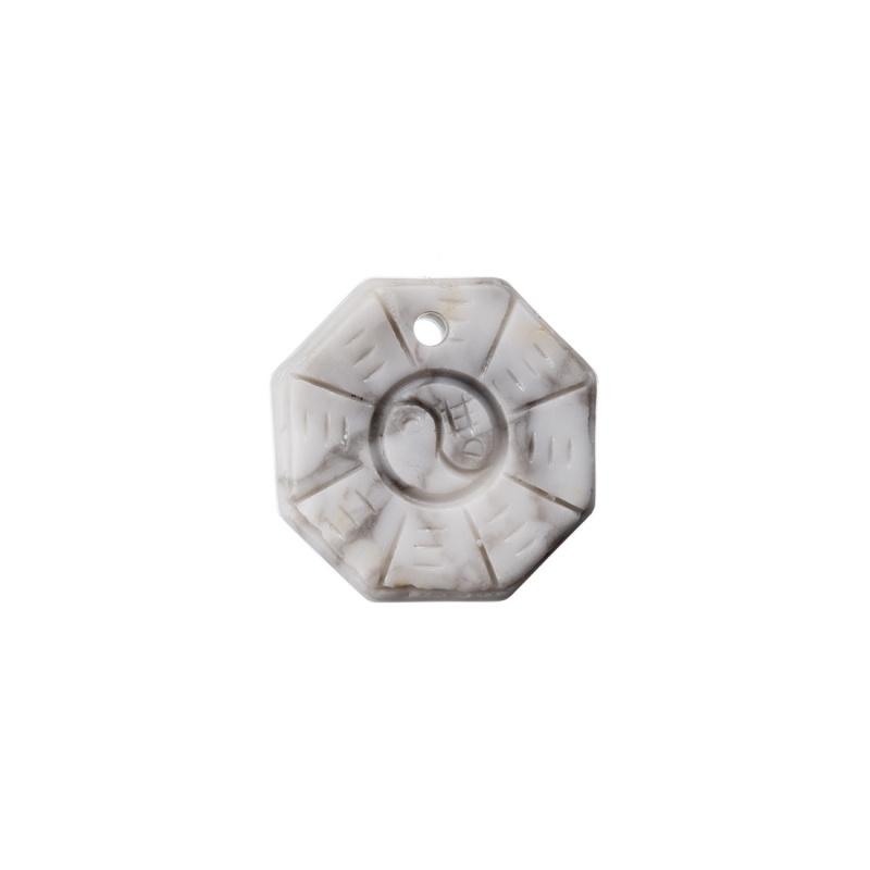 Ciondolo Unisex Yin Yang in Howlite