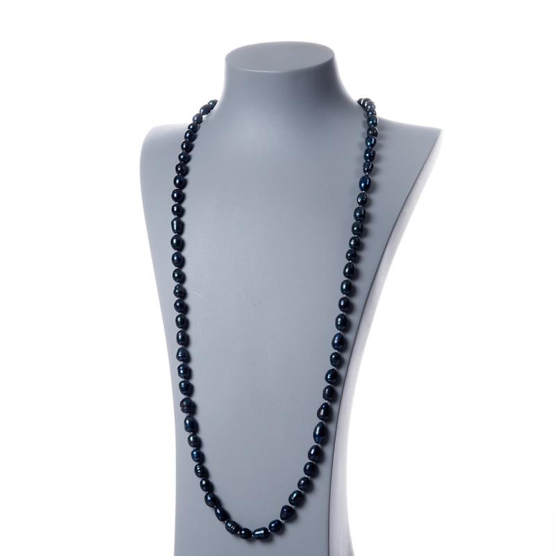 Collana di Perle Nere d'Acqua dolce ovali