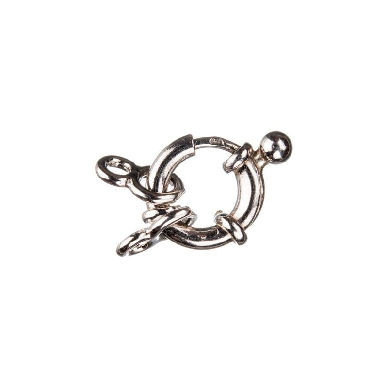 Chiusura anello in Argento 925 con molla - diametro 1 cm - 1 pz.
