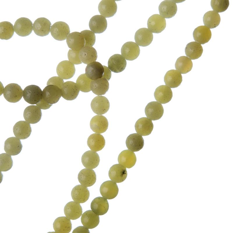 Giada Lemon - Filo di sfere lisce da 4mm
