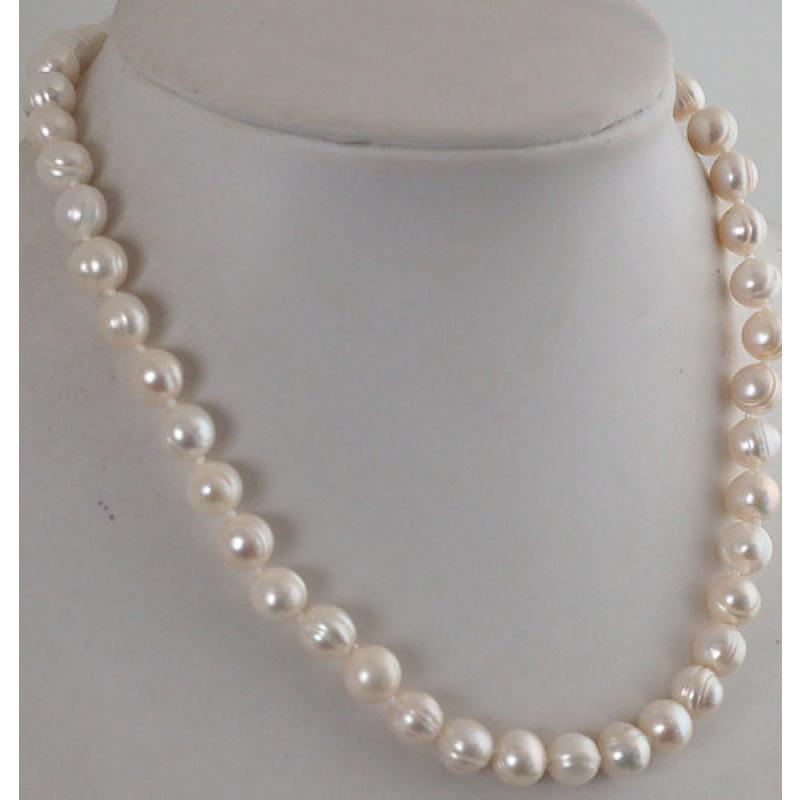 Collana Corta a sfere di Perle d'acqua dolce